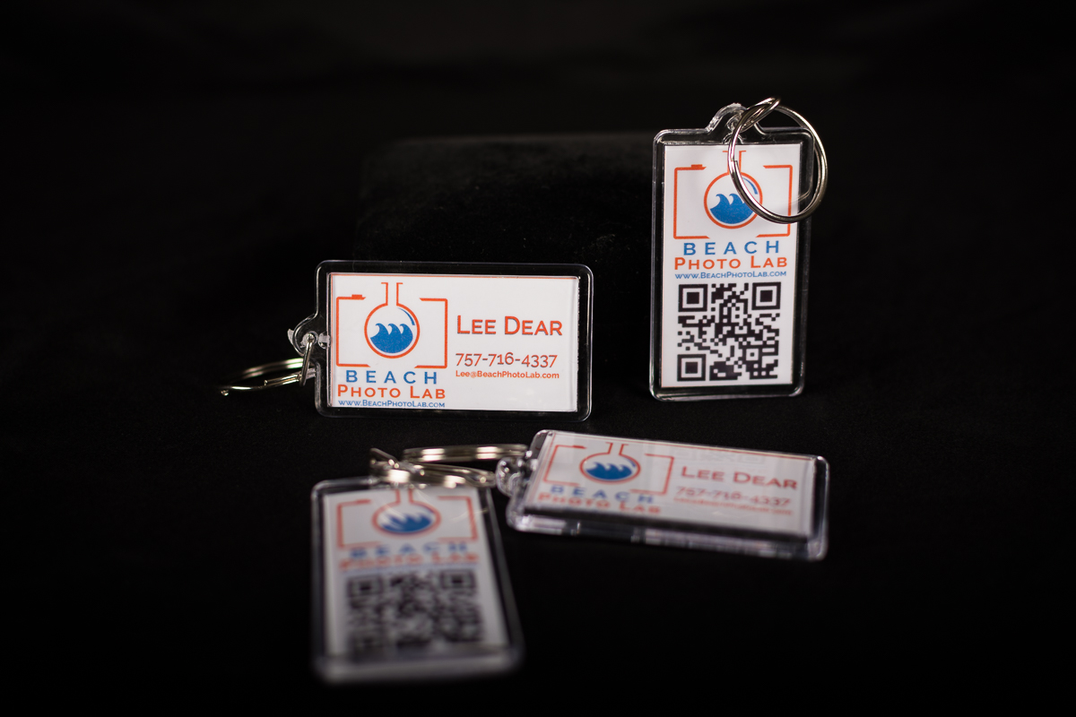 Interactive Business Card Keychain - BeachPhotoLab